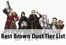 Brown Dust Tier List