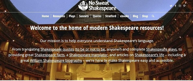 Nosweatshakespeare