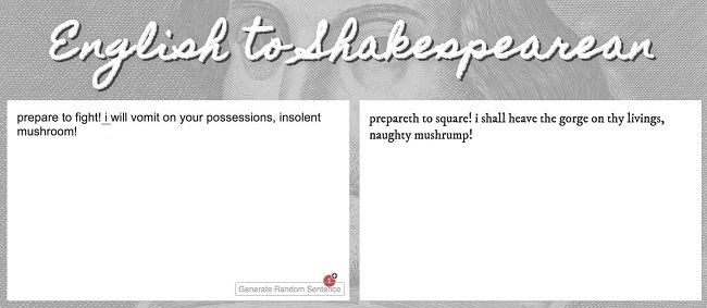 English to Shakespearean
