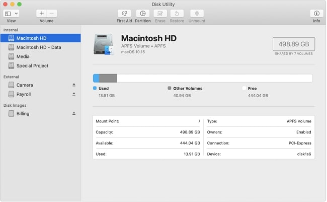 Launch Disk Utility