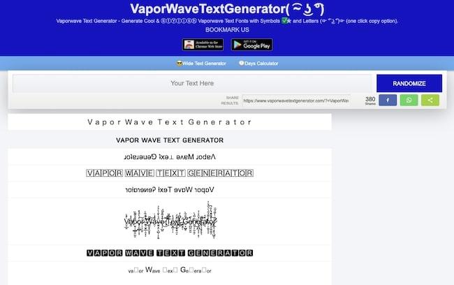 VaporWaveTextGenerator