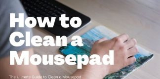 how to clean a mousepad