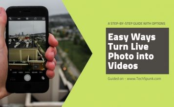 turn live photo to videos